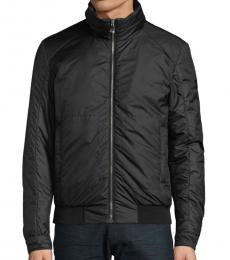 Versace Collection Black Short Down Padded Jacket