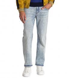 True Religion Light Blue Ricky No Flap Slim Jeans