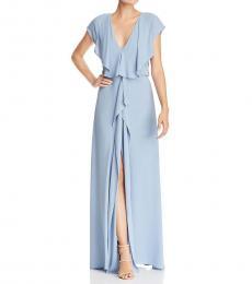 BCBGMaxazria Shadow Blue Evette Evening Dress