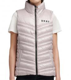 DKNY Light Purple Puffer Vest