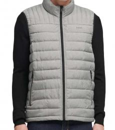 DKNY Heather Grey Packable Quilted Vest