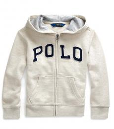 Little Boys Sand Heather Twill Terry Hoodie