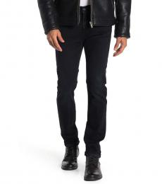 7 For All Mankind Black Paxtyn Skinny Straight Jeans