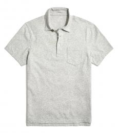 Grey Washed Jersey Polo