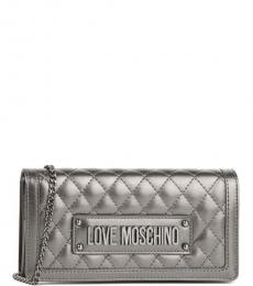 Love Moschino Metal Quilted Mini Shoulder Bag