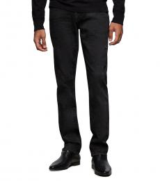 True Religion Black Grunge Geno Slim Jeans