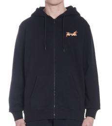 Marcelo Burlon Black Fireball Hoodie Jacket