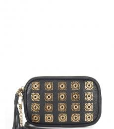Juicy Couture Black Medallion Mini Crossbody