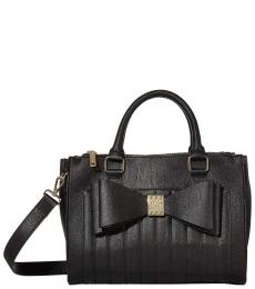 Black Bow Medium Satchel