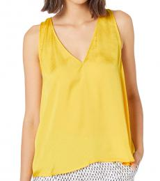 Yellow A-Line Woven Top