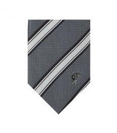 Grey Striped Tie