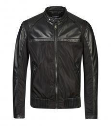 Dolce & Gabbana Black Solid Bomber Jacket