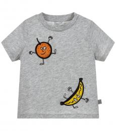 Stella McCartney Baby Boys Grey Fruity Badges T-Shirt