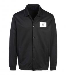 Fred Perry Black Logo Badge Button Jacket