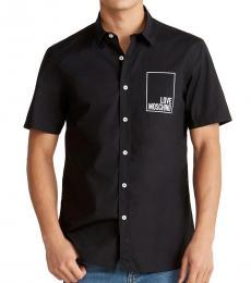 Black Rectangle Logo Shirt