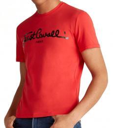 Red Cursive Logo T-Shirt