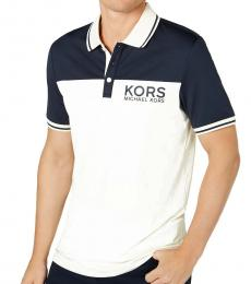 Michael Kors Pale Yellow Colorblock Logo Polo