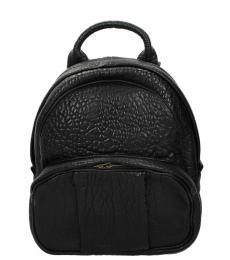 Alexander Wang Black Textured Medium Backpack