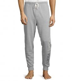 Calvin Klein Grey Cotton-Blend Jogger Pants
