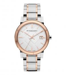 Burberry Silver Two-Tone Watch