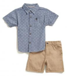 Calvin Klein 2 Piece Shirt/Shorts Set (Baby Boys)