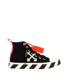 Off-White Black Mid Top Sneakers