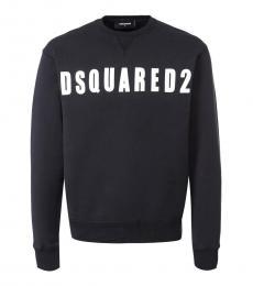 Black Logo Print Sweatshirt