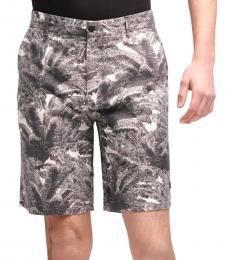 Grey Multi Palm Tree Print Shorts