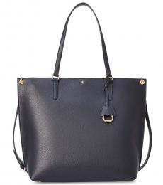 Ralph Lauren Navy Abby Large Tote