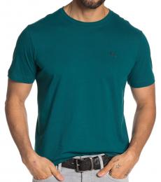 Teal Front Brand Logo T-Shirt