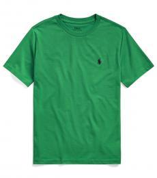 Boys Lifeboat Green Crewneck T-Shirt