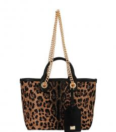 Dolce & Gabbana Leopard Print Capri Small Tote