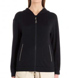 Brunello Cucinelli Black Zipper Hoodie Jackets