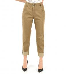Light Brown Straight Fit Jeans