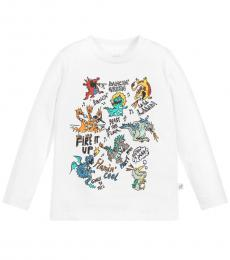Stella McCartney Boys White Dragon T-Shirt
