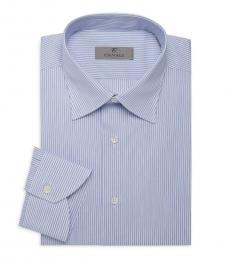 Canali Blue Pinstriped Dress Shirt