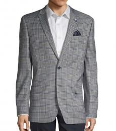 Ben Sherman Grey Plaid Notched Sportcoat