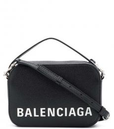 Balenciaga Black Camera Ville Medium Crossbody