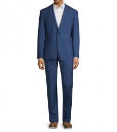 Vince Camuto Royal Blue Slim Stretch Plaid Suit
