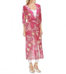 Wild Hibiscus Floral Maxi Chiffon Top