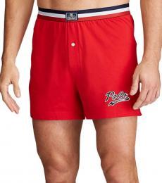 Ralph Lauren Red Cotton Jersey Boxers