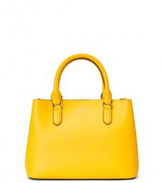 Ralph Lauren Racing Yellow Marcy II Small Satchel