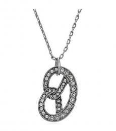 Antique Silver Charms Pretzel Pendant Necklace