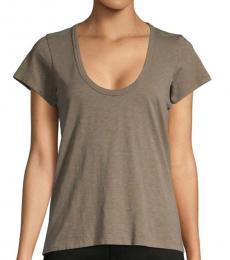Rag And Bone Grey Scoop Neck T-Shirt