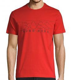 Hugo Boss Red Logo Graphic T-Shirt