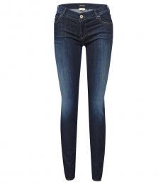 Emporio Armani Blue Mid Rise Jeans