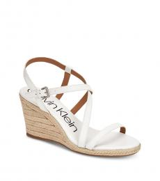 Calvin Klein Platinum White Bellemine Wedges