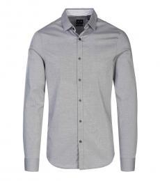 Light Grey Solid Logo Shirt
