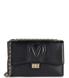 Mario Valentino Black Posh Logo Large Shoulder Bag