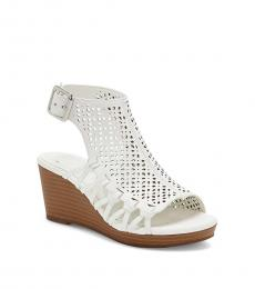 Vince Camuto Little Girls White Obal Wedges